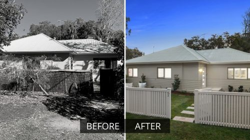 Decluttering Action Plan Before and After Photo